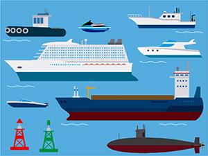 海事代理士が取り扱う船舶の数々